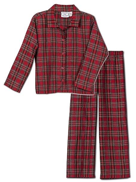 37184ef5b4 Amazon.com  Sara s Prints Boys  Red Plaid Flannel Pajama Set
