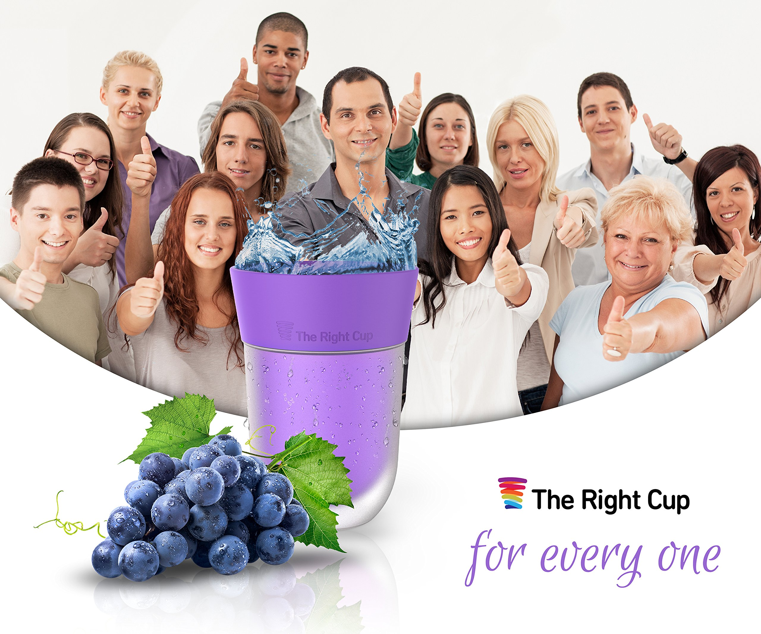 Flavor Enhancing water Cup- Pack of 6 flavored cups - Orange, Cola, Berry, Apple, Peach and Grape. Helps you drink water instead of soda. by The Right Cup by The Right Cup (Image #5)