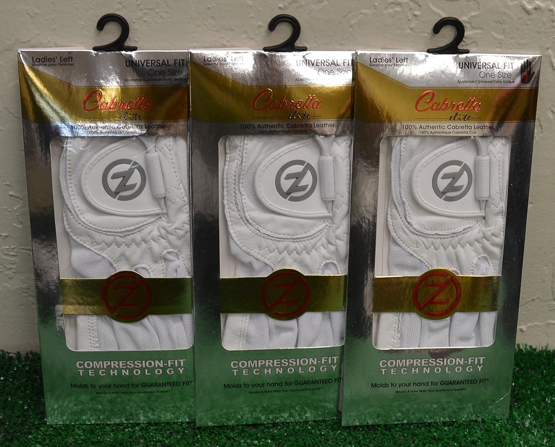 3ゼロ摩擦羊Elite Ladies ' LHゴルフ手袋 – 1つサイズ – ホワイト – gl60002   B077QZW2GR
