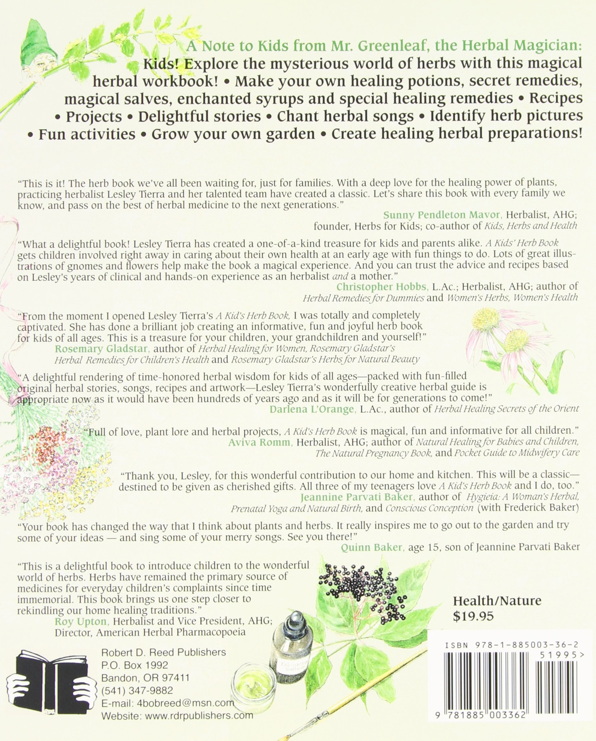 A fun magic coloring book amazon - Kid S Herb Book A For Children Of All Ages Lesley Tierra 0884563675840 Amazon Com Books