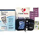 Precision Xtra Blood Ketone Testing Kit- Precision Xtra Blood Ketone Monitoring System+10 Precision Xtra Ketone Test Strips(No Glucose Strips Included)+One Month Supply of Lancets and Alcohol Wipes