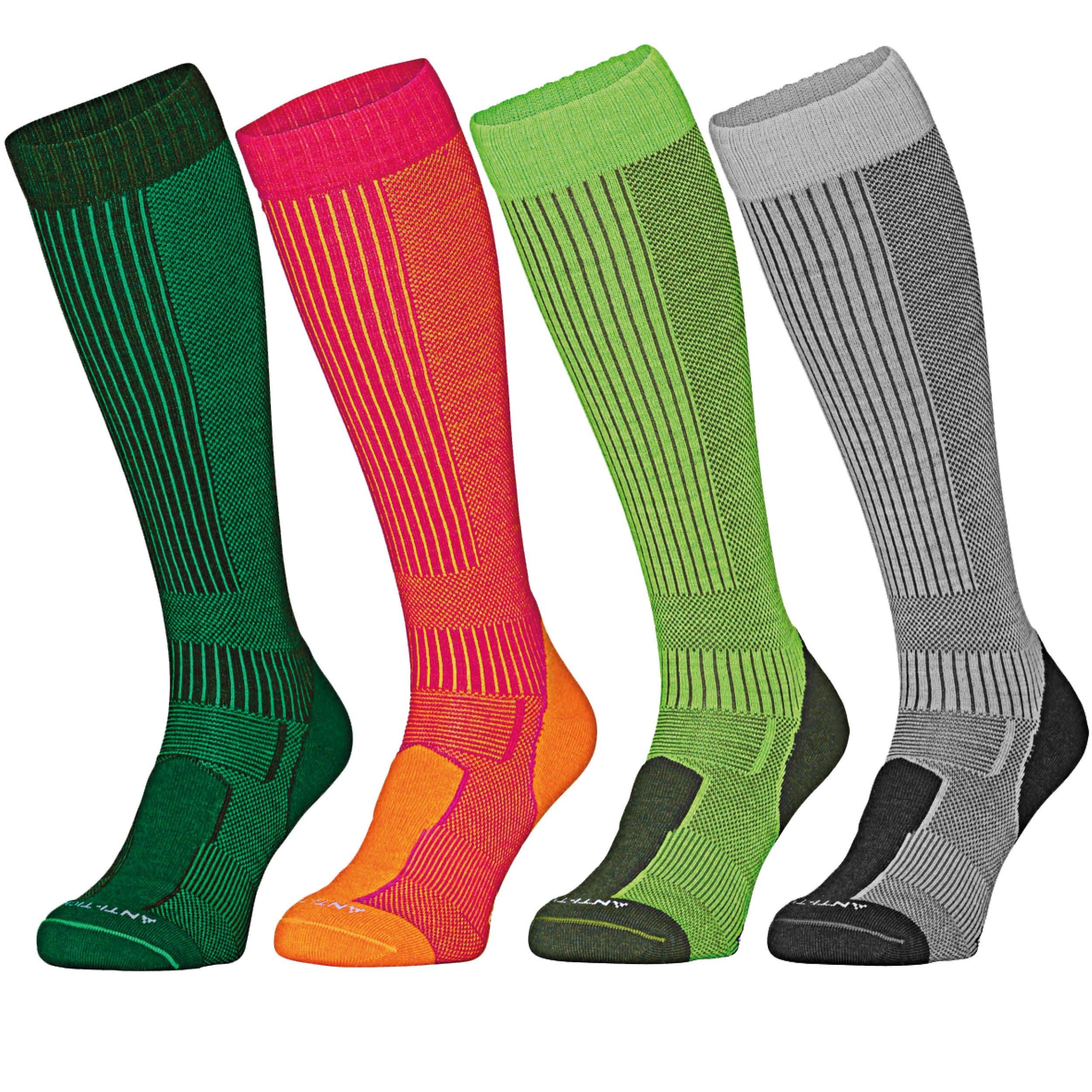 DANISH ENDURANCE Anti-Tick Merino Wool Outdoor Socks (Light Grey 1 Pair, US Women 11-13 // US Men 9.5-12.5)