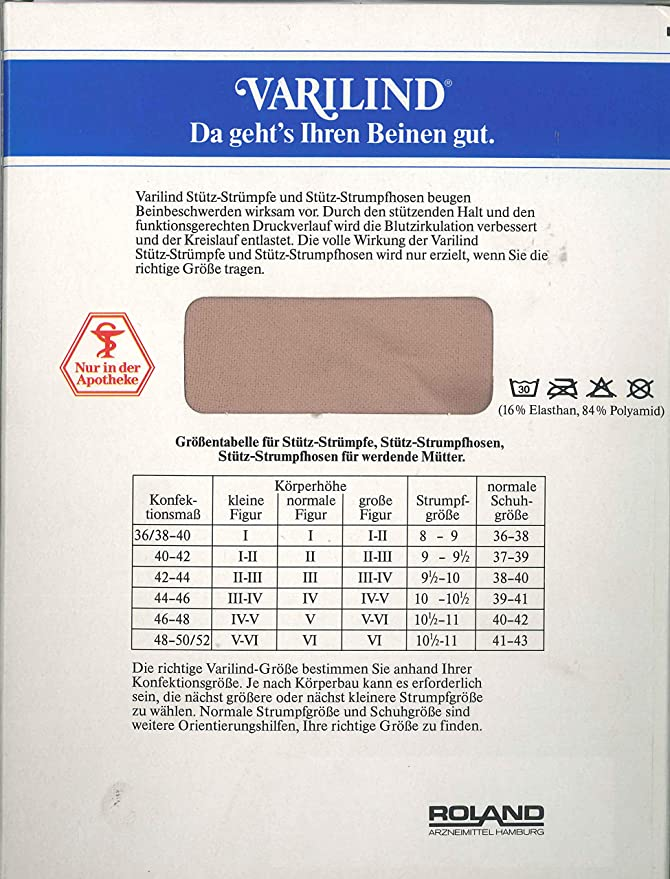 Relativ VARILIND Stütz-Strumpfhose Classic 70den Größe III = 40-42: Amazon YN78