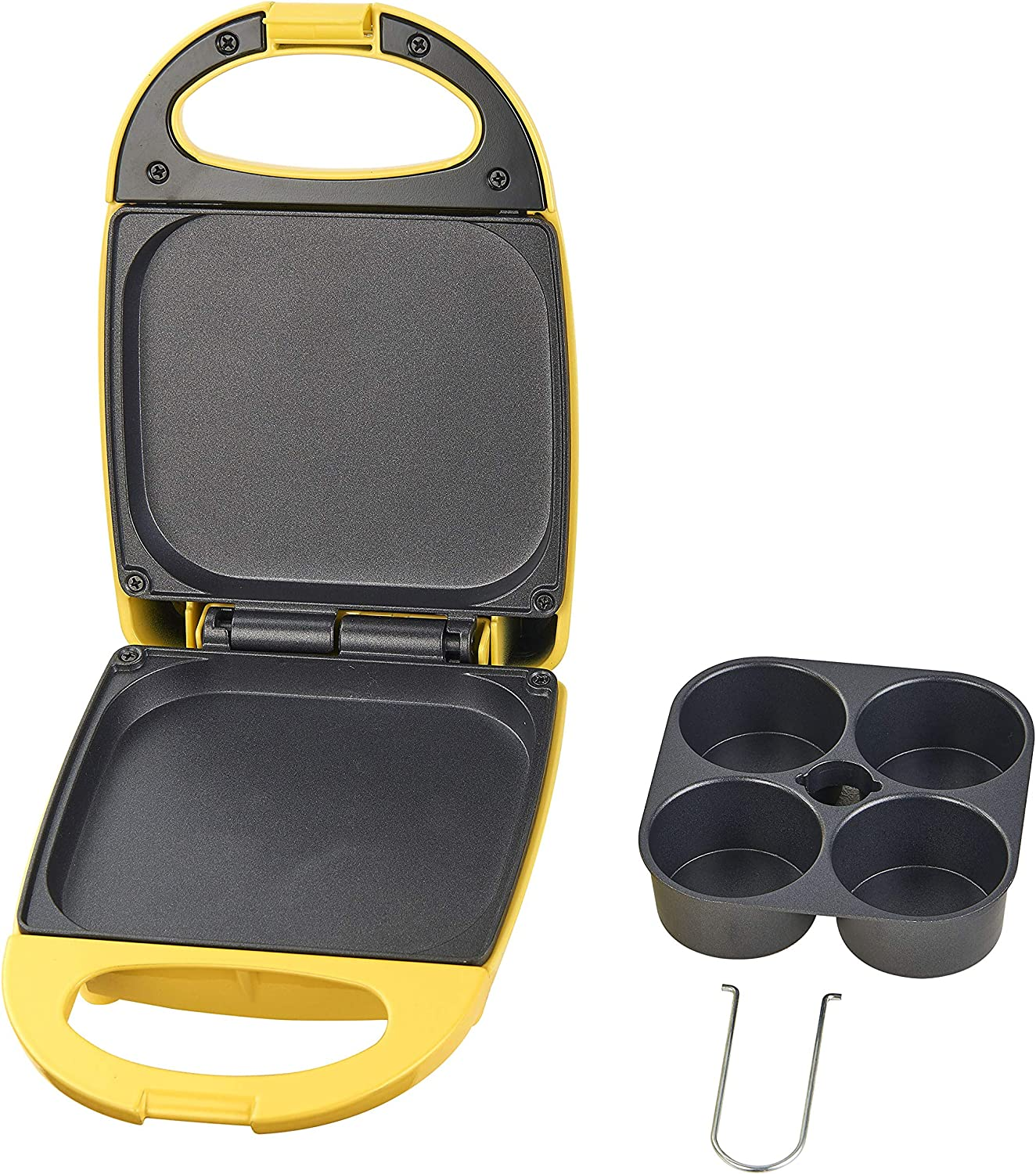 Salton Egg Bite Maker for 4 Single Serve Bites Yellow Non-stick Lunch or Snack SP2042 Perfect for On The Go Breakfast