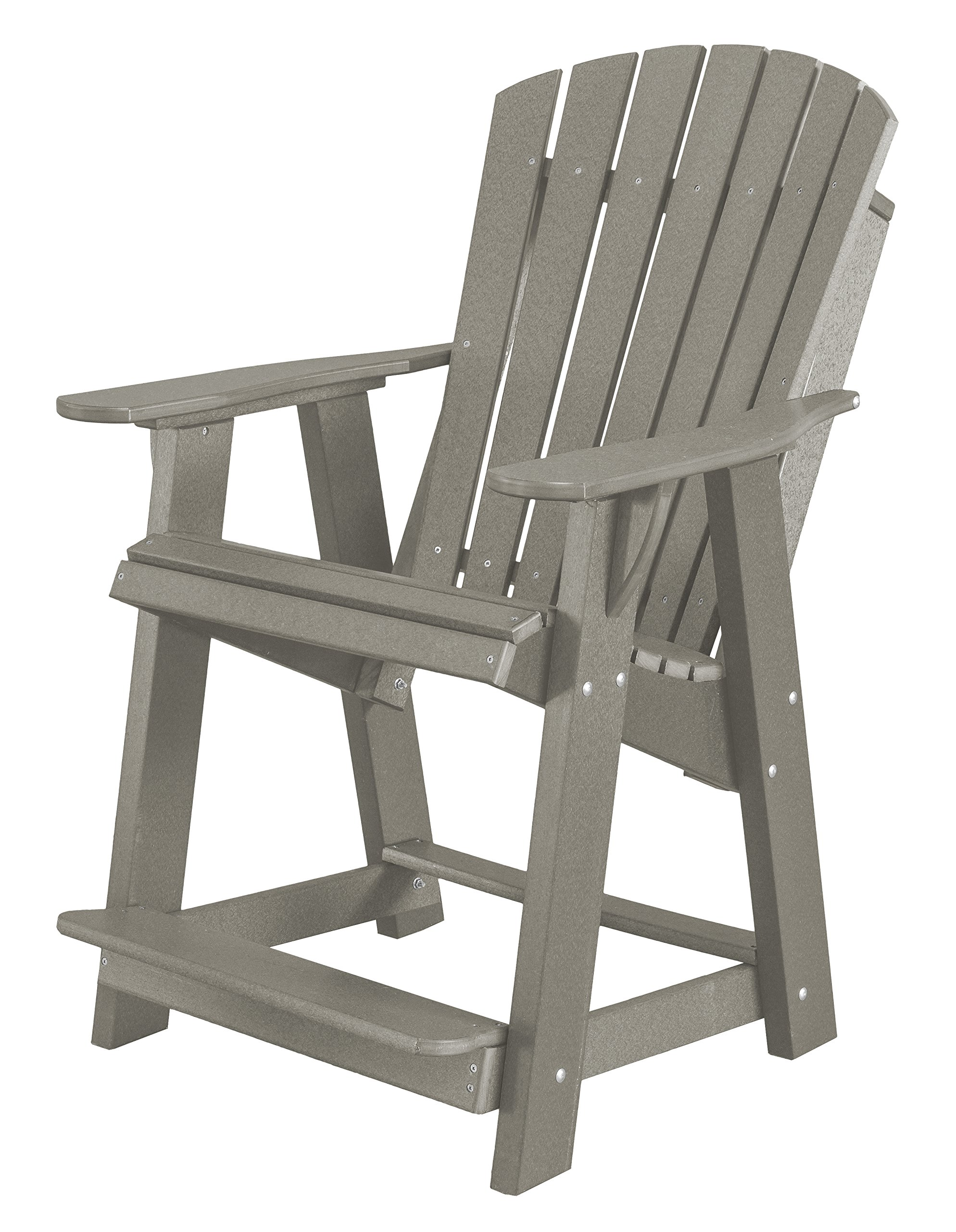 Little Cottage Company Lcc-119 Heritage High Adirondack Chair, Light Gray by Little Cottage Company