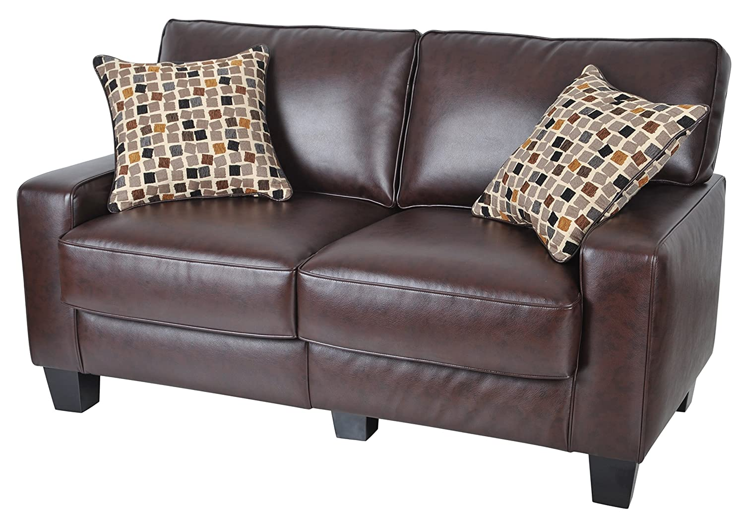 Amazon Com Serta Rta Palisades Collection 61 Bonded Leather  ~ Sofa And Loveseat Leather