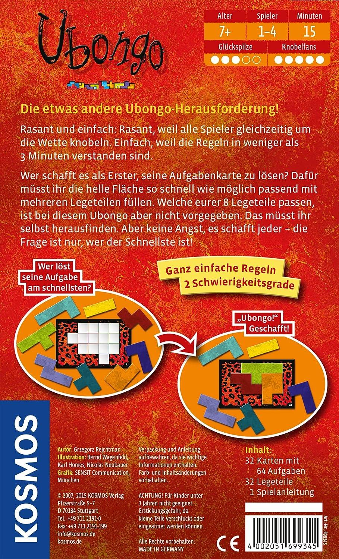 KOSMOS 69960 - Juego de Tablero (Multi, 11,3 cm, 3,8 cm, 18,4 cm): Rejchtman, Grzegorz: Amazon.es: Juguetes y juegos
