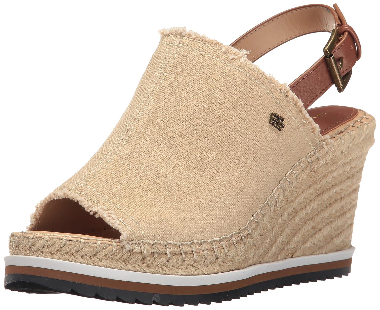 innovative design most popular limited guantity Tommy Hilfiger Women's Yolanda Espadrille Wedge Sandal, Sand, 6 ...