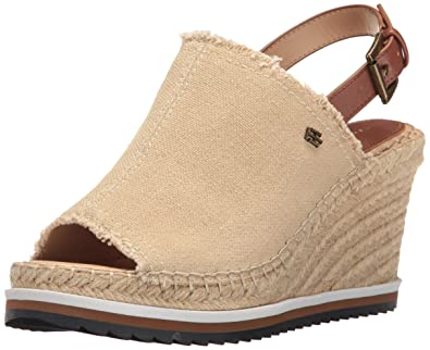 ce82b4a7a67 Tommy Hilfiger Women s Yolanda Espadrille Wedge Sandal Sand 10.5 Medium US
