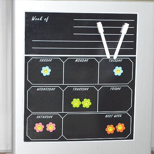Seatrend - Calendario magnético para Nevera, Pizarra de borrado en ...
