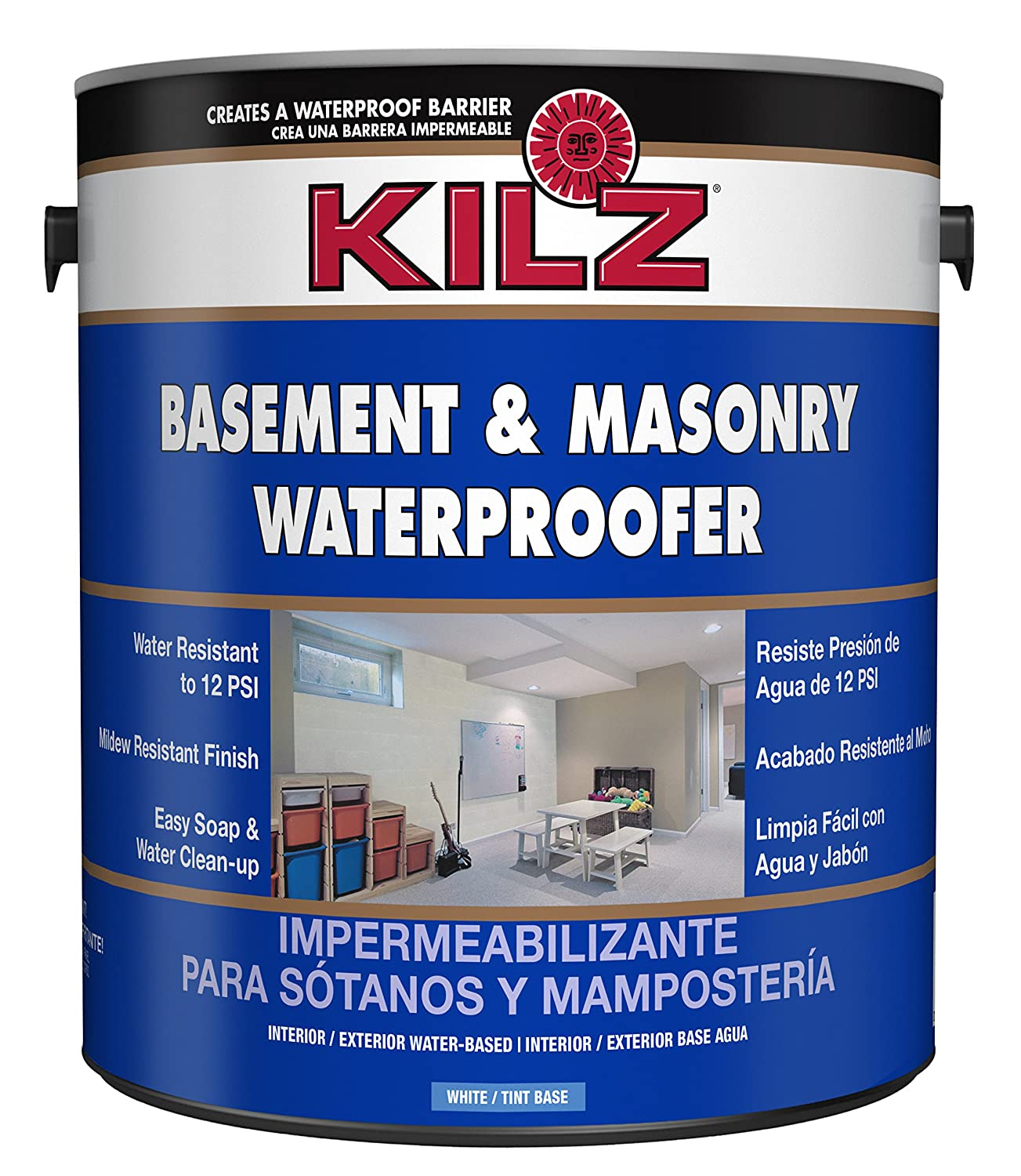 Reasons To Use The Water Sealant Paint For Basement Kilz Interior-exterior Basement And Masonry Waterproofing Paint, White,  1-gallon - House Paint - Amazon.com