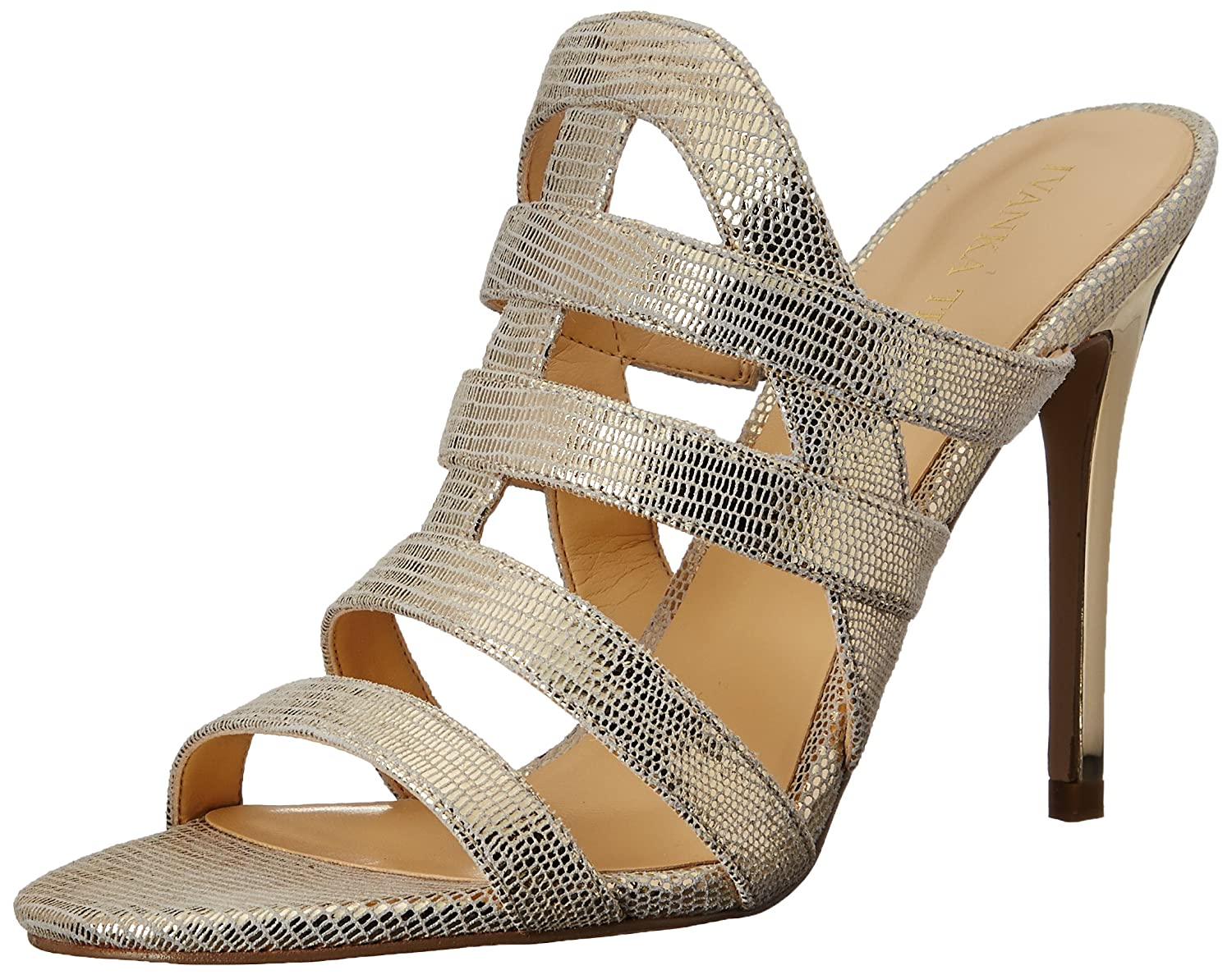 Amazon.com | Ivanka Trump Women's Hullen Dress Sandal, Gold, 6.5 M US |  Slides