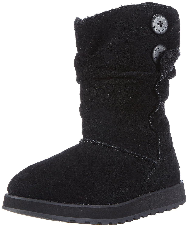 Skechers Keepsakes Freezing Temps Damen Halbschaft Stiefel  38 EU|Schwarz (Blk)