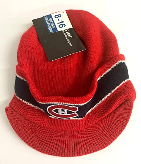 Gertex Montreal Canadiens NHL Habs Red with Brim Toque Winter Hat Knit  Beanie Youth …  Amazon.ca  Luggage   Bags 76c1af806da