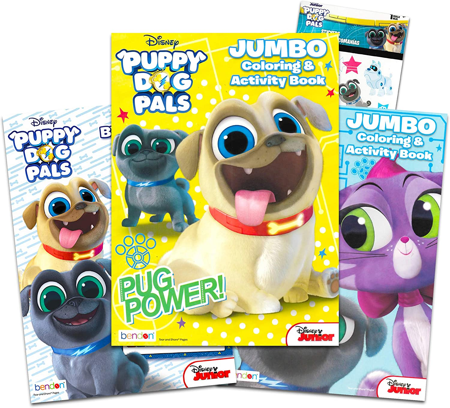 Amazon Com Puppy Dog Pals Coloring Book Bundle Set Set Of 3 Puppy Dog Pals Activity Books With Bonus Reward Stickers Puppy Dog Pals Party Supply Set Toys Games