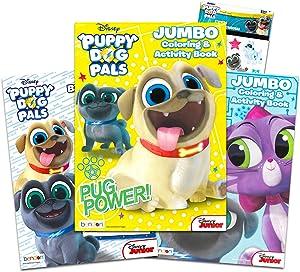 Puppy Dog Pals Coloring Book Bundle Set -- Set of 3 Puppy Dog Pals Activity Books with Bonus Reward Stickers (Puppy Dog Pals Party Supply Set)