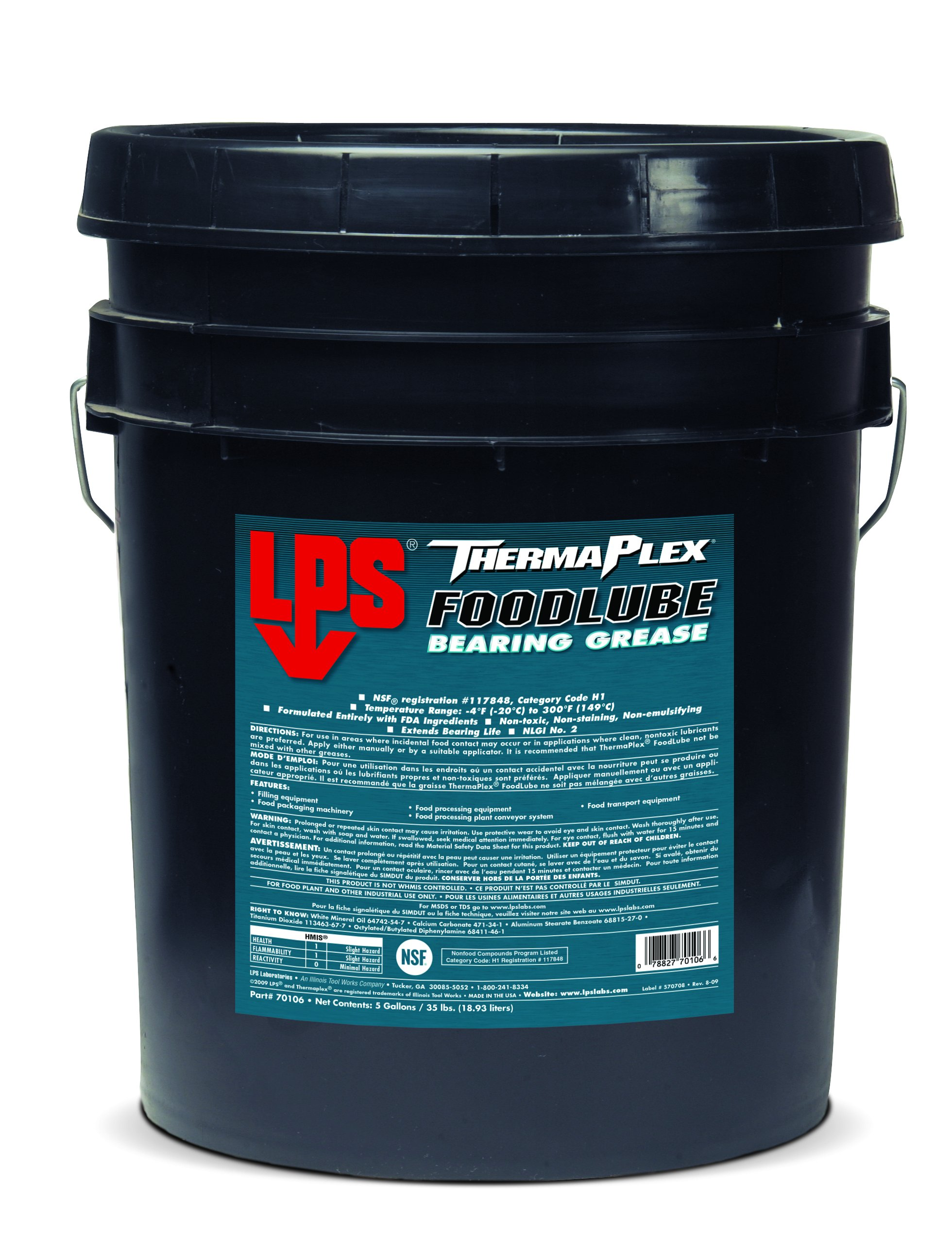LPS ThermaPlex FoodLube Bearing Grease, 35 lbs