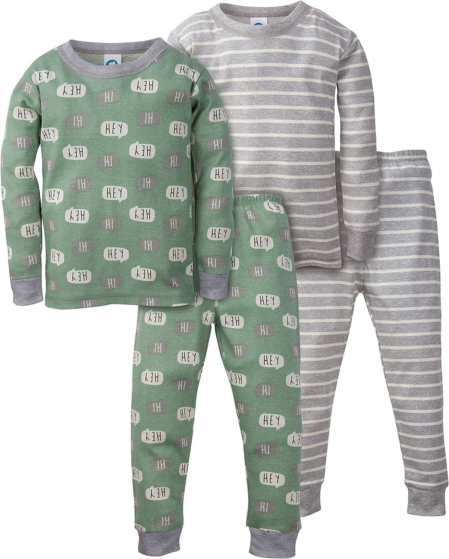Gerber Boys Toddler Organic 2 Pack 2-Piece Cotton Pjs