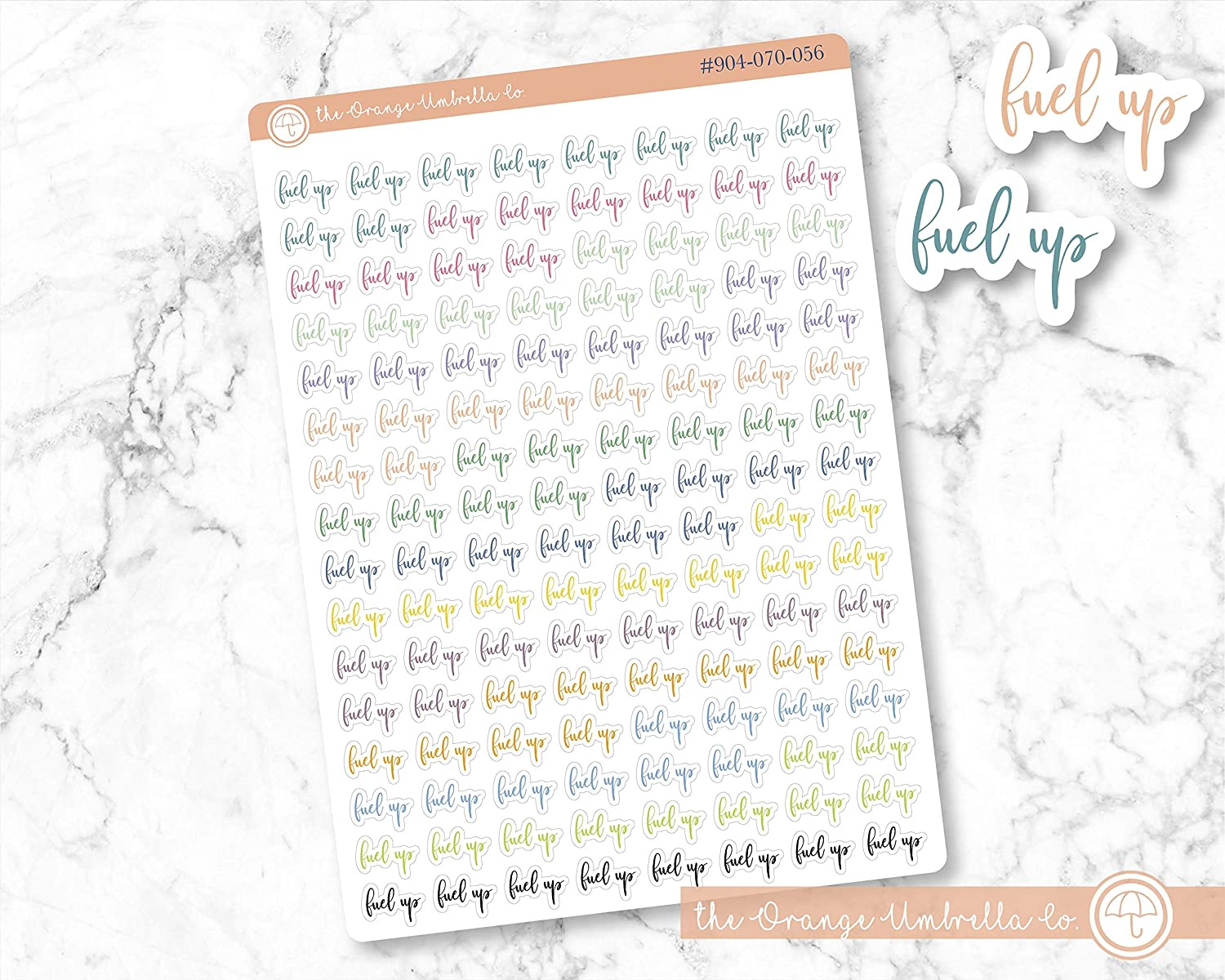 ECLP Colored Notes Planner Stickers Fuel Up Label Planner Stickers #904-070-056-WH ScriptFuel Up Labels