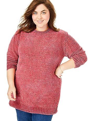 1d8c394ec72 Women's Plus Pullover Sweaters   Amazon.com