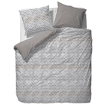 Esprit Mako Satin Wendebettwäsche Yelka Grey 1 Bettbezug 135x200 Cm