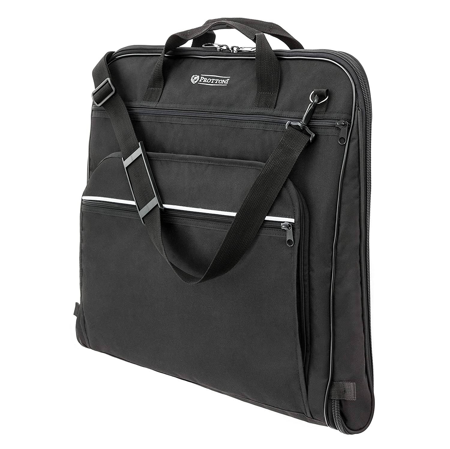 43c13fca6a4c Prottoni 44-inch Garment Bag for Travel – Water-Resistant Carry-On Suit  Carrier