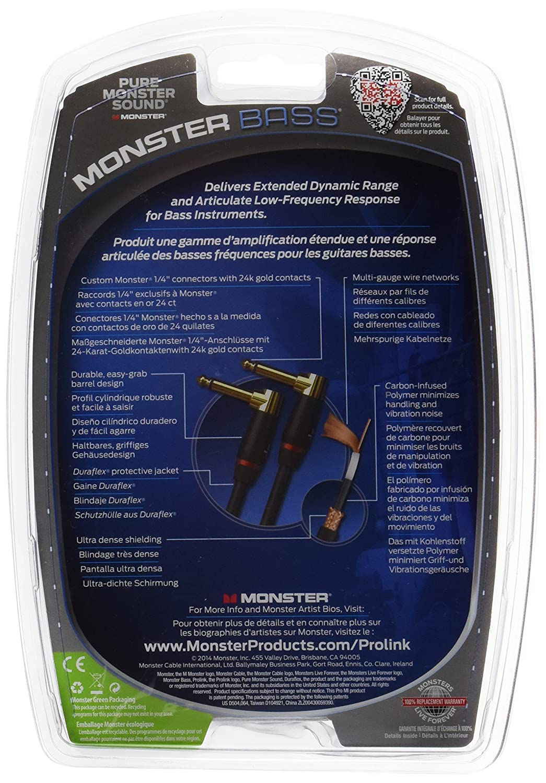MONSTER CABLE bass-0, 75da Pedal para guitarra cables: Amazon.es: Instrumentos musicales
