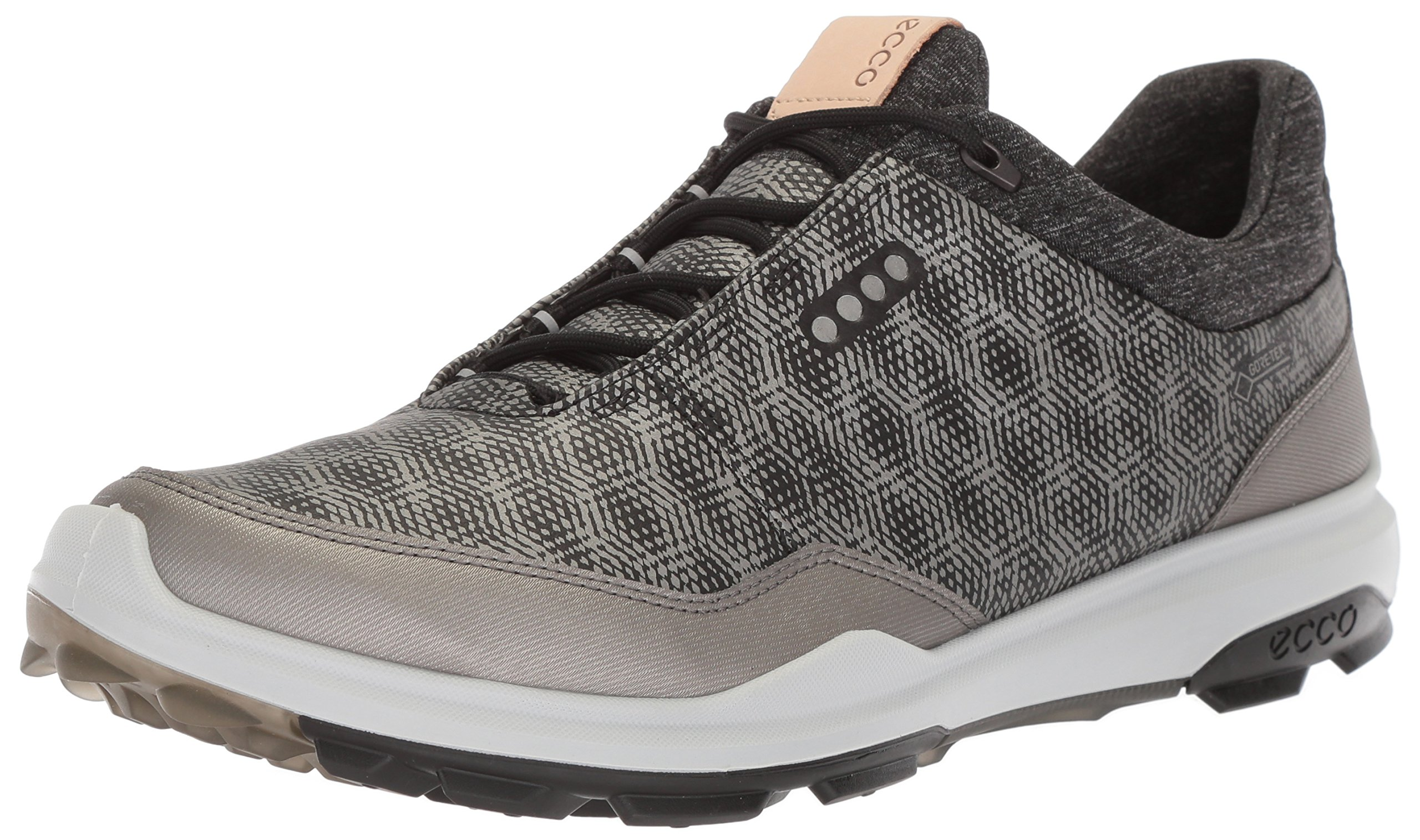 ECCO Men's Biom Hybrid 3 Gore-Tex Golf Shoe, Black/Buffed Silver, 39 M EU (5-5.5 US)