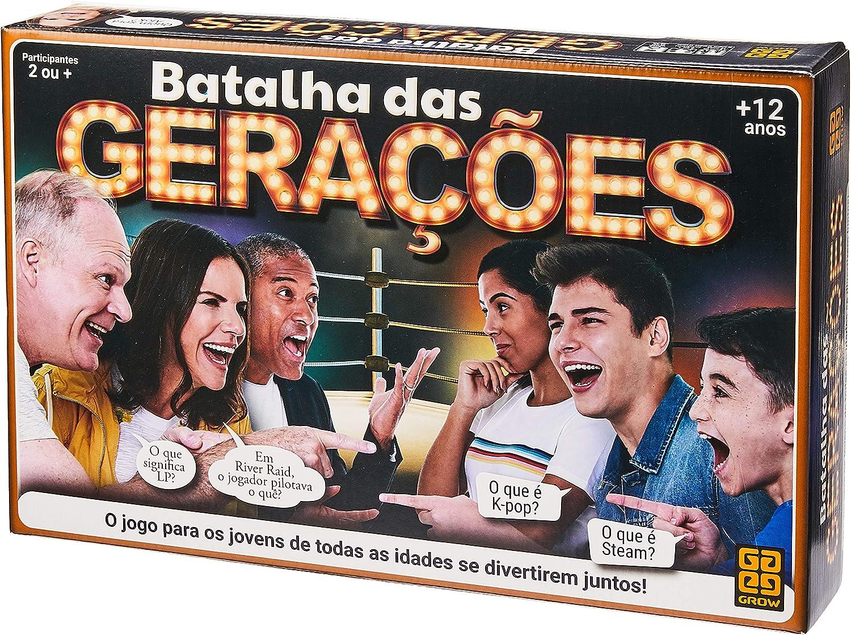 Grow - Batalha das Gerações Jogo De Tabuleiro, Multicolorido, (Grow 3583)