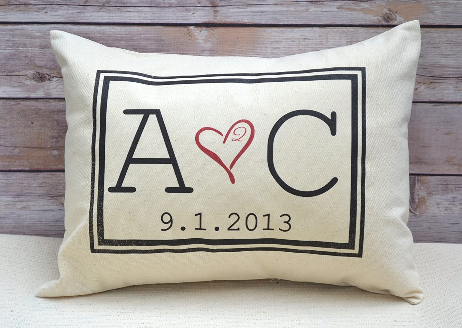 Amazon.com: Personalized Pillow Two hearts 2 Hearts are one, with ...