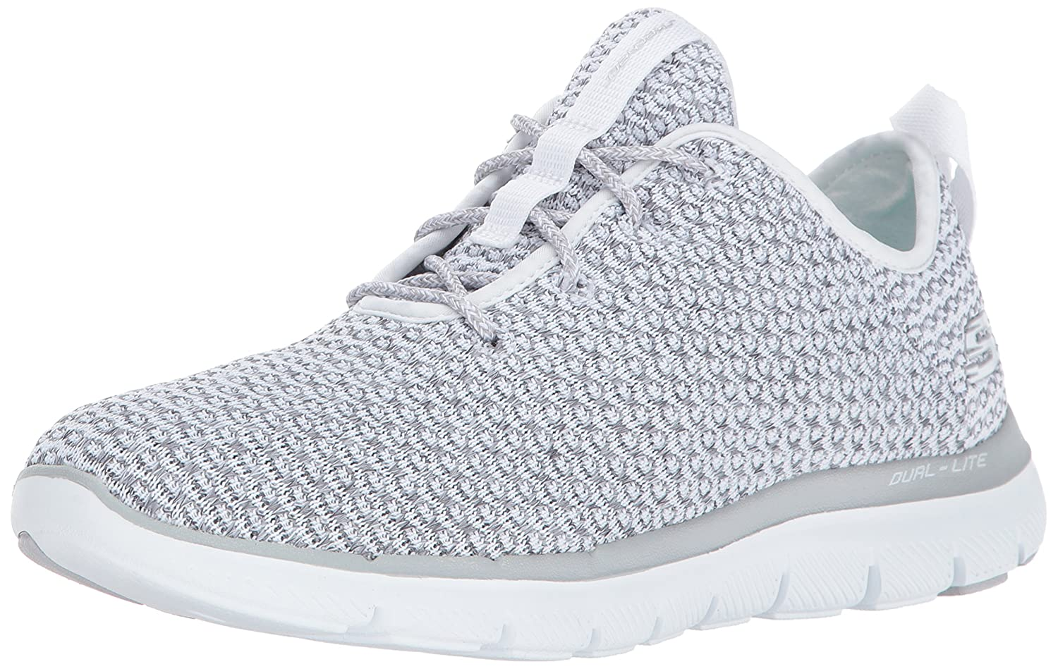 Skechers Sport Women's Flex Appeal 2.0 Bold Move Fashion Sneaker B01N8YQSKB 9.5 B(M) US|White Grey