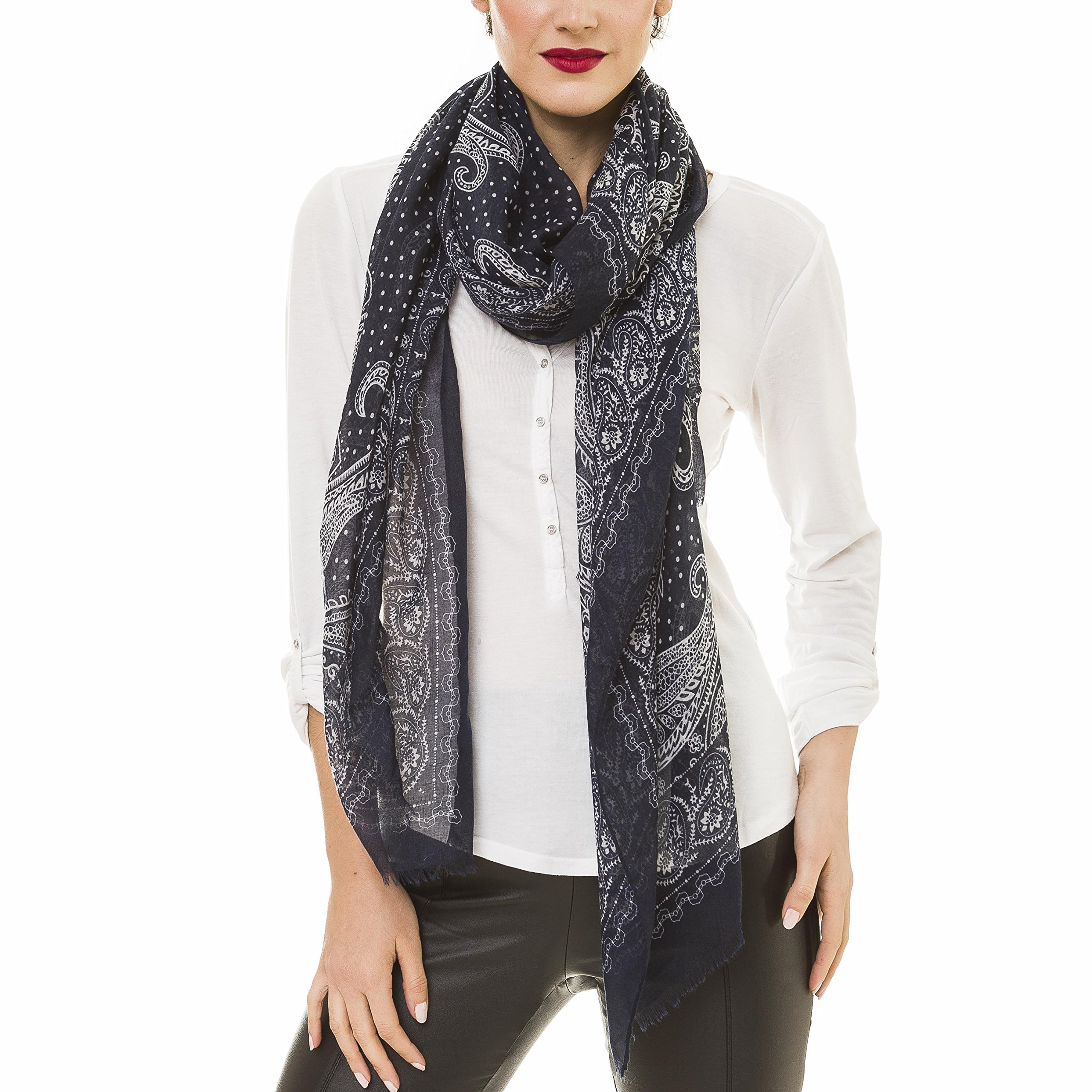 Scarf for Women Lightweight Paisley Fashion Fall Winter Scarves Shawl Wraps (NF46-2)
