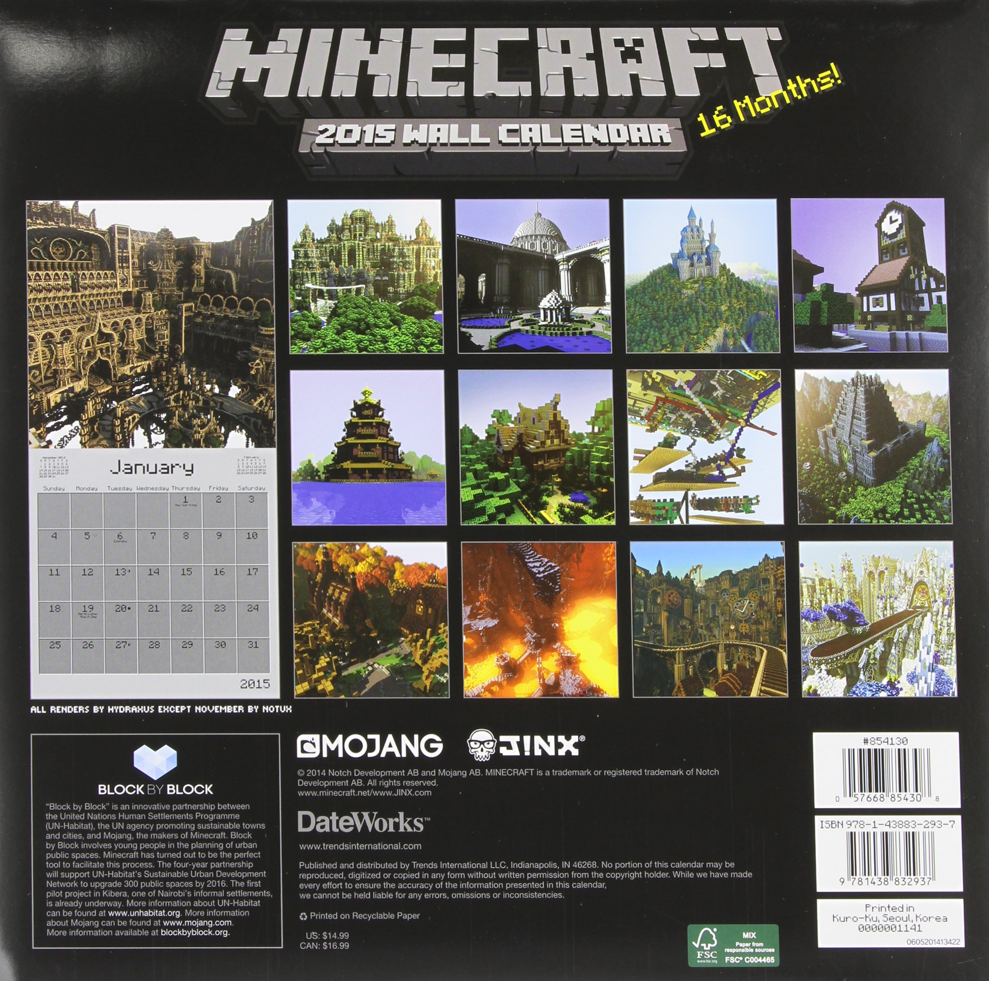 100 Free 2017 2018 Minecraft Calendar And Planner For