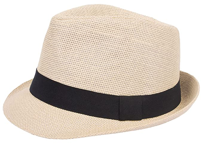 25d5e74da29 DRY77 Mens Womens Straw Summer Short Brim Fedora Hat Trilby Beach Gangster  Hot