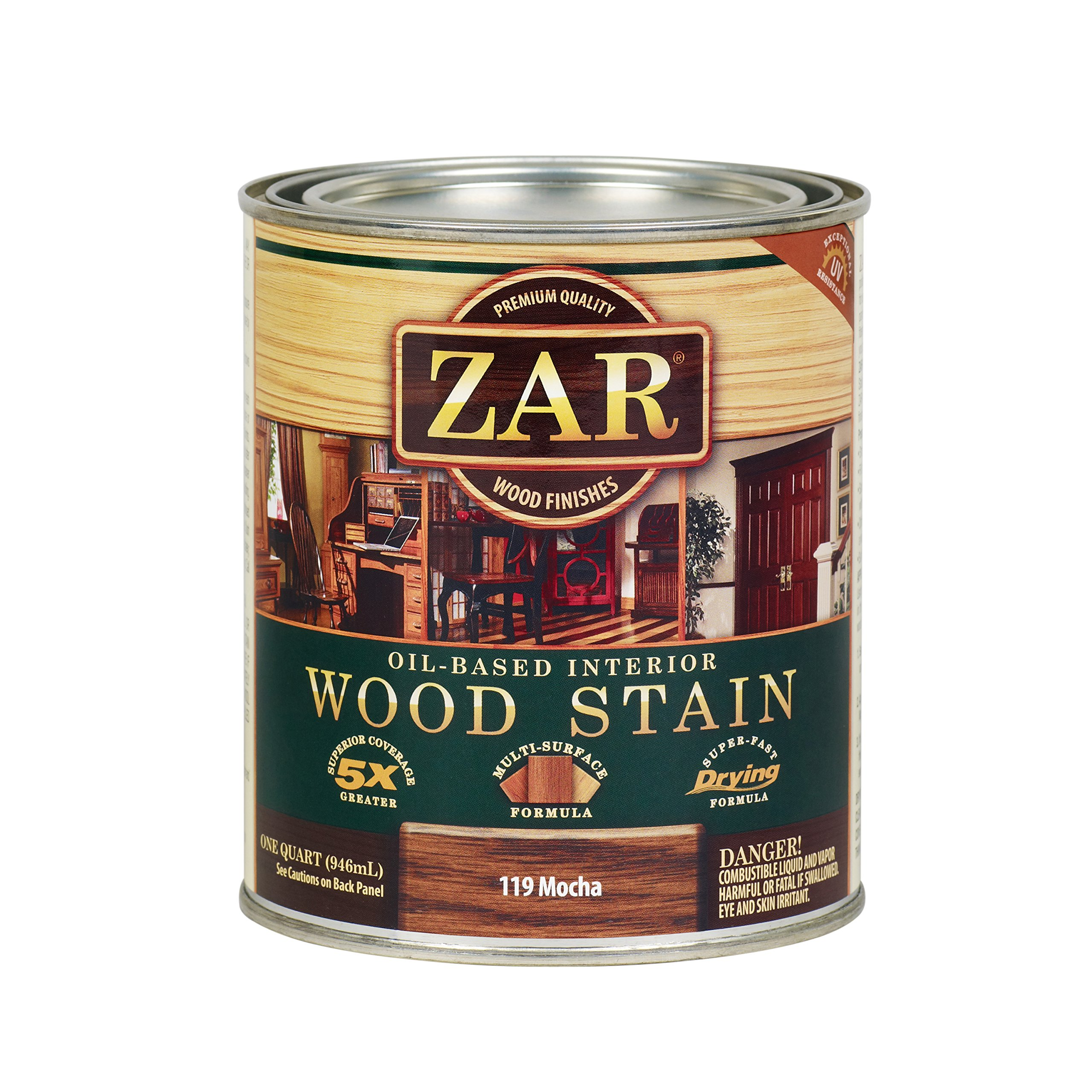 Zar Wood Stain 11912 Qt Mocha Stain Household Wood Stains