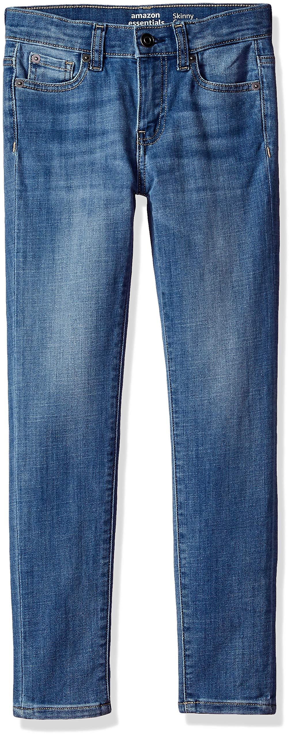 Amazon Essentials Big Girls' Skinny Jeans, Cricket/Light,10 by Amazon Essentials