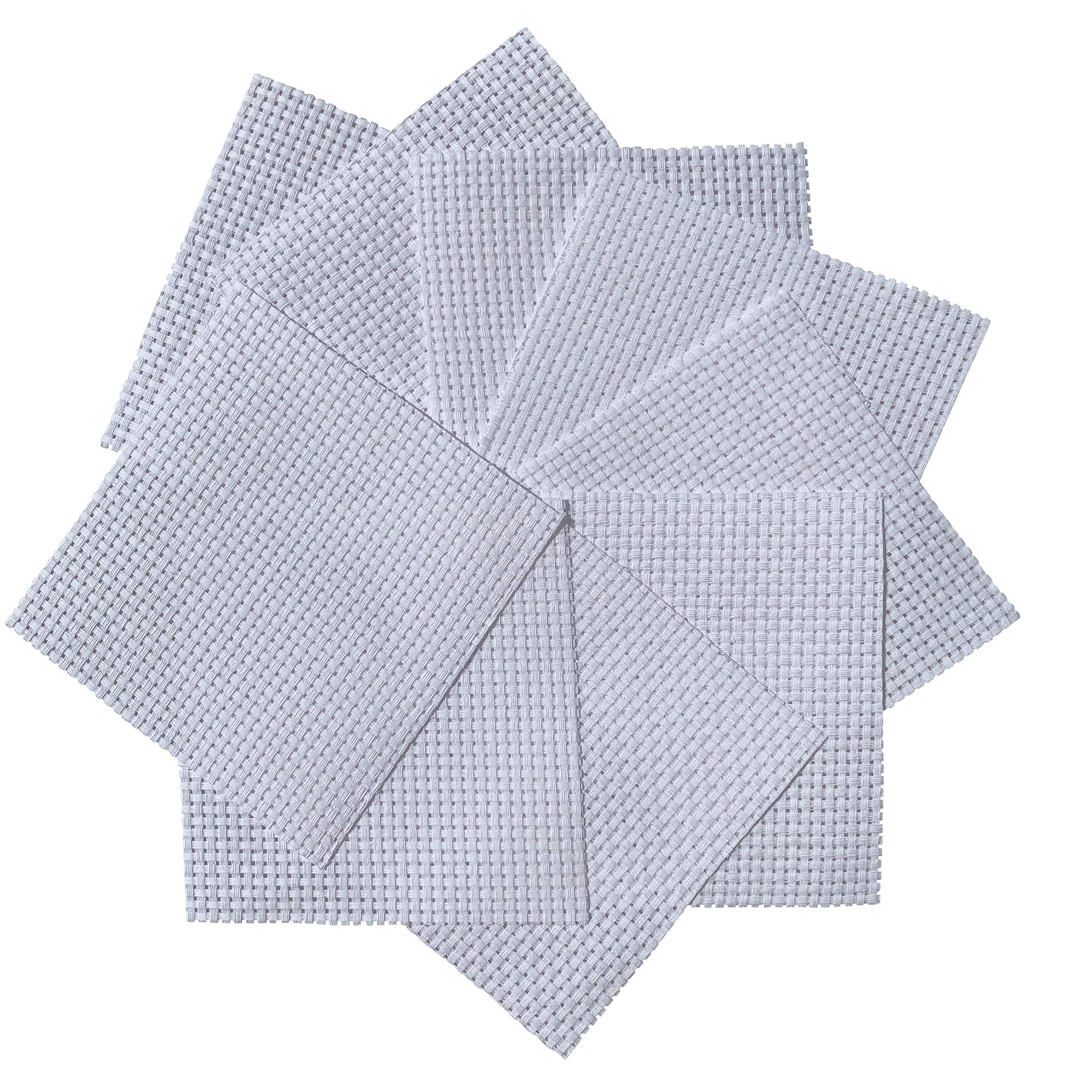 White Binca Squares (Pack of 10) 6-Count Cross Stitch Fabric - 100% Cotton - 15x15cm