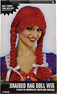 Amscan Braided Rag Doll Wig Costume Accessory