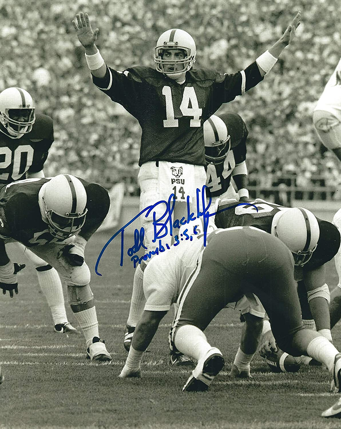 Autographed Todd Blackledge 8x10 Penn State Photo