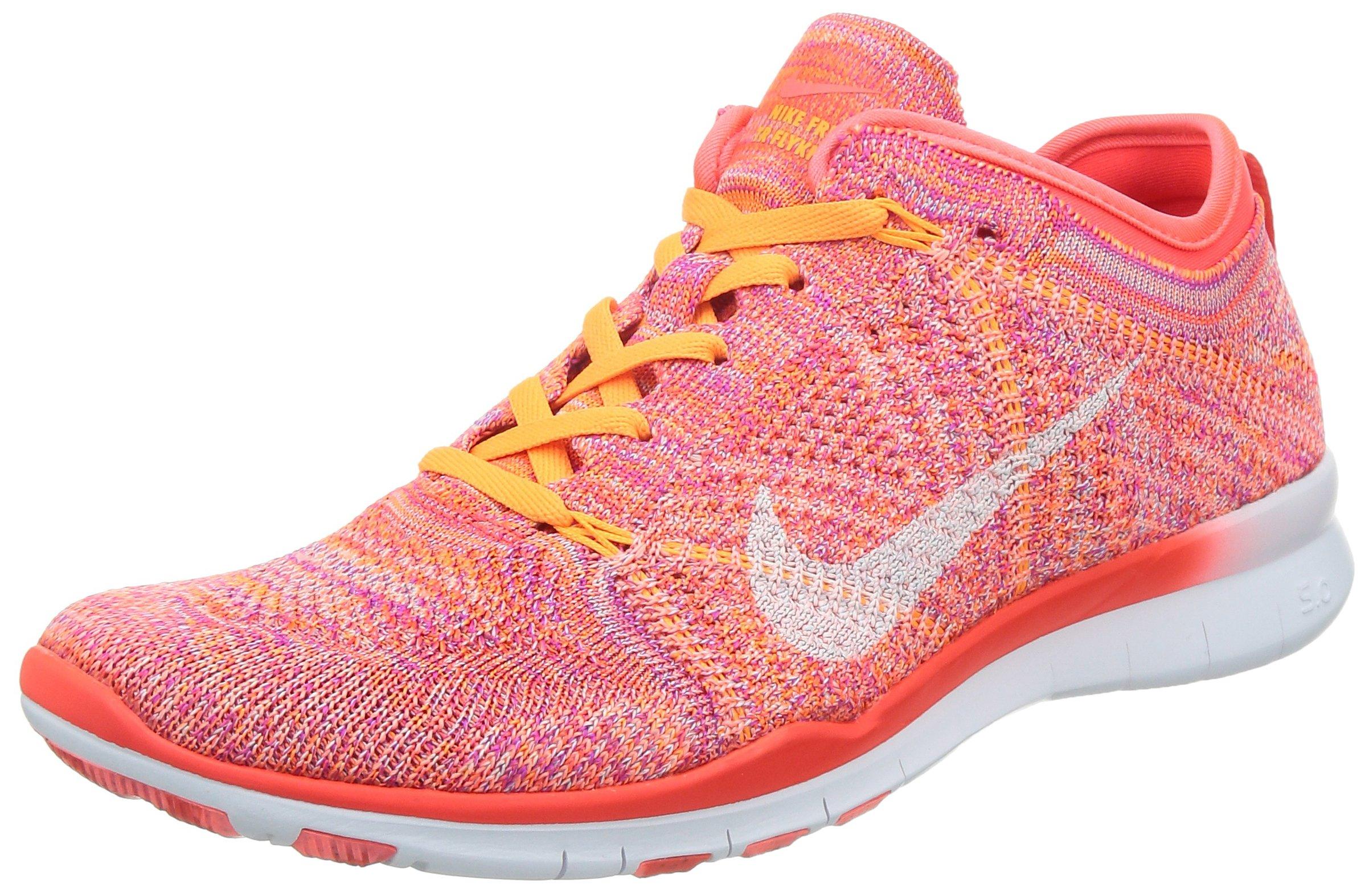 Nike Women's Wmns Free TR Flyknit, BRIGHT CRIMSON/WHITE-BRIGHT CITRUS-T, 7.5 US