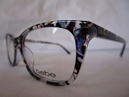ab6a7bd044fc Amazon.com: BEBE EYEGLASS FRAME BB5145 500 PLUM FLORAL PURPLE CLEAR  53-17-135: Everything Else
