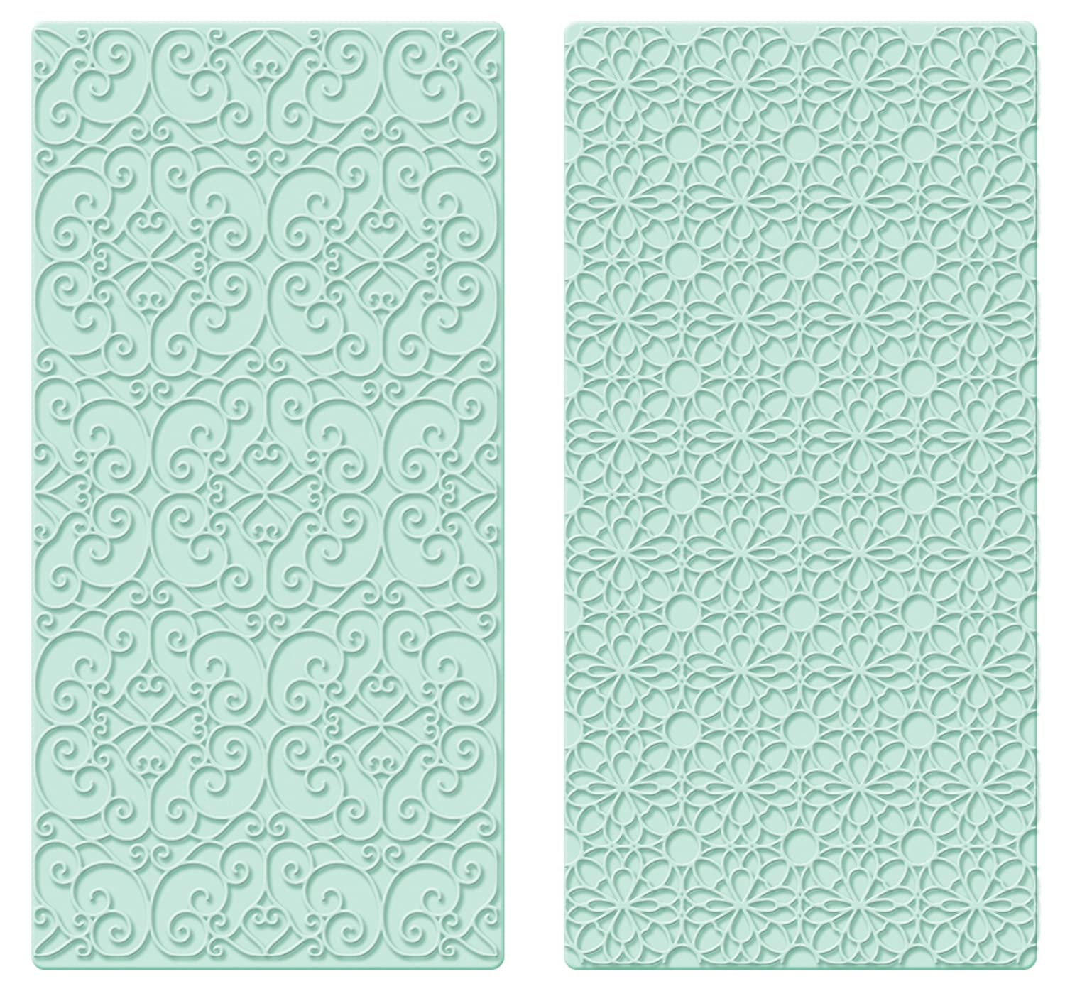 Sweetly Does It Filigree and Geometric Easy Press Embossers, Green Kitchen Craft SDIEMBOSS02PK2