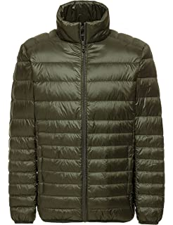 Yeokou Mens Casual Packable Lightweight Quilted Short Down Puffer Jacket Coat