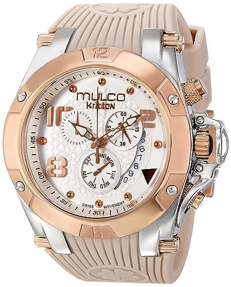 Mulco MW5-2029-113 - Reloj de Pulsera Unisex, Caucho, Color Beige: Amazon.es: Relojes