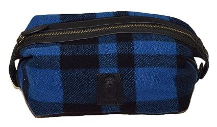 0150d4785664 Image Unavailable. Image not available for. Color  Polo Ralph Lauren  Toiletry Travel Lavatory Dopp Zip Kit Wool Plaid Blue Black