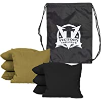 Victory Tailgate 8 Colored Corn Filled Regulation Cornhole Bags with Drawstring Pack - Multiple Colors Available