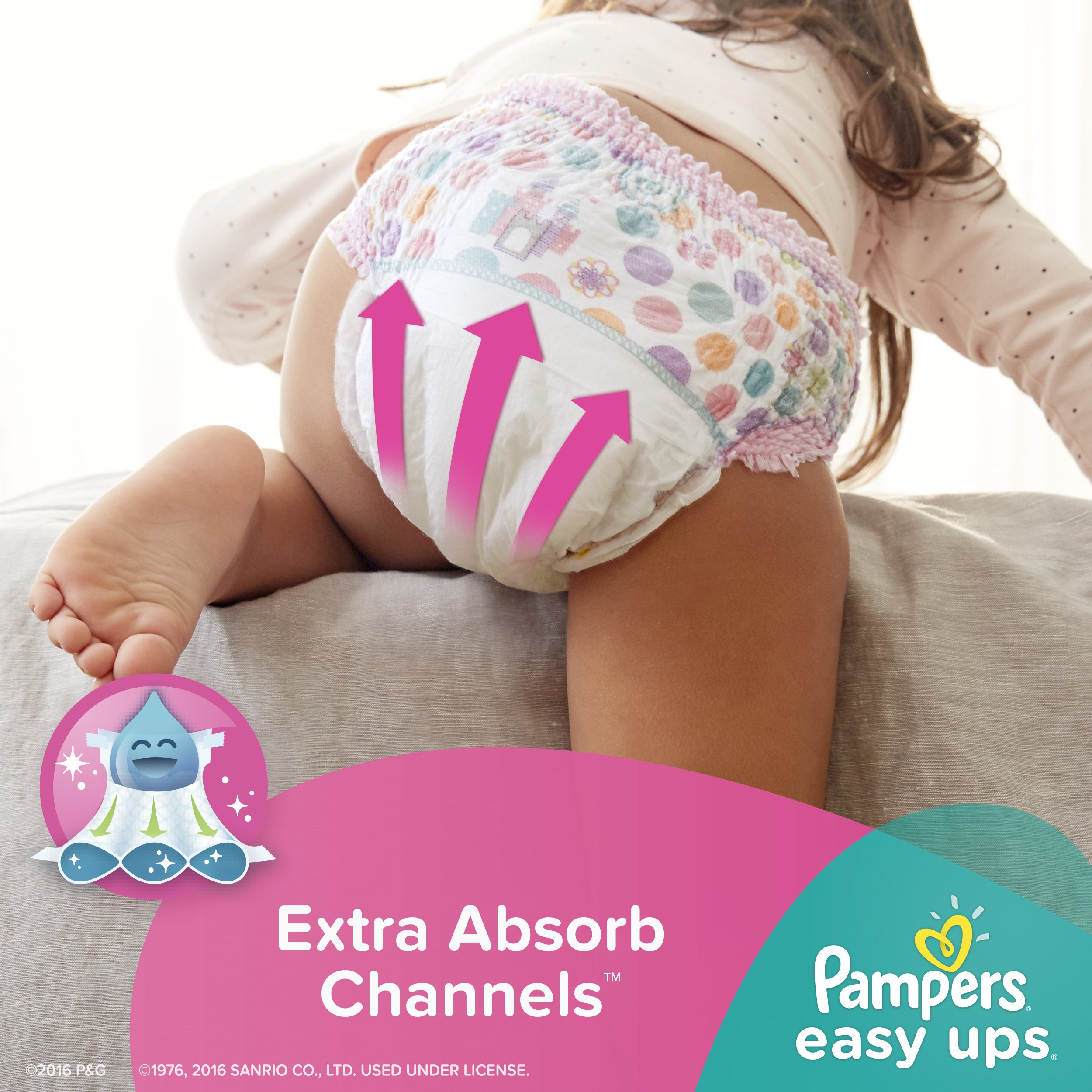 Pampers Easy Ups Training Pants Pull On Disposable Diapers for Girls Size 5 (3T-4T), 148 Count, ONE MONTH SUPPLY by Pampers (Image #7)