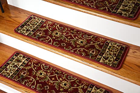 Dean Non Slip Tape Free Pet Friendly Stair Gripper Carpet Stair Treads    Classic Keshan