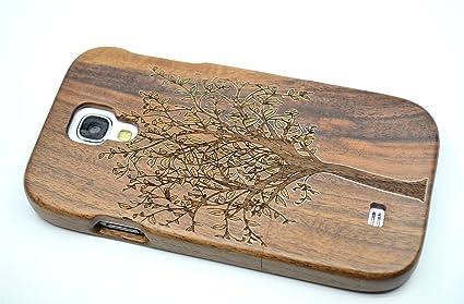 PhantomSky Samsung Galaxy S4 Funda de Madera, [Serie de Lujo] Natural Hecha a Mano de Bambú/Madera Carcasa Case Cover para tu Smartphone: Amazon.es: Electrónica