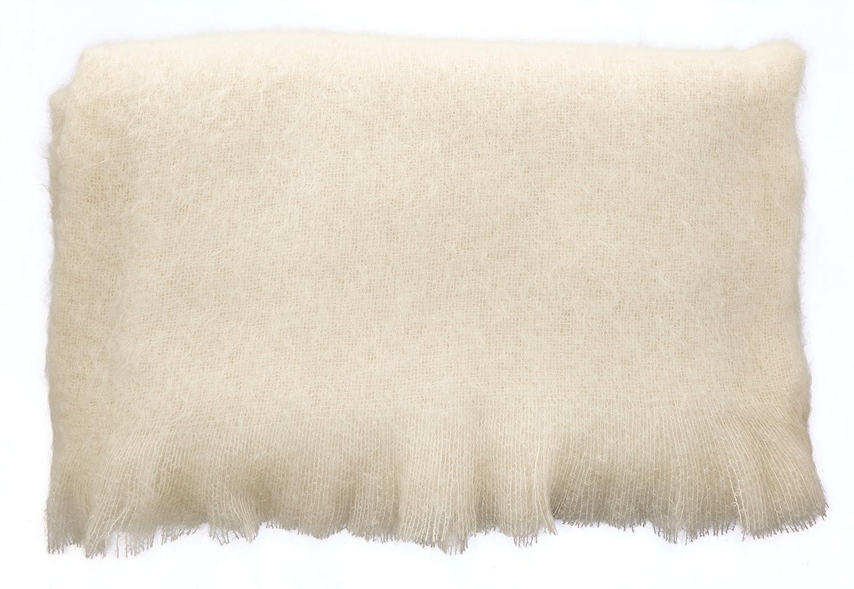 Ourson Decke, 100% Mohair, extra weich, BLANC A0, 180x220